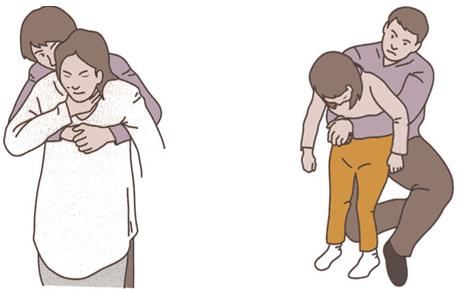 胸部突き上げ法、小児へのハイムリッヒ法